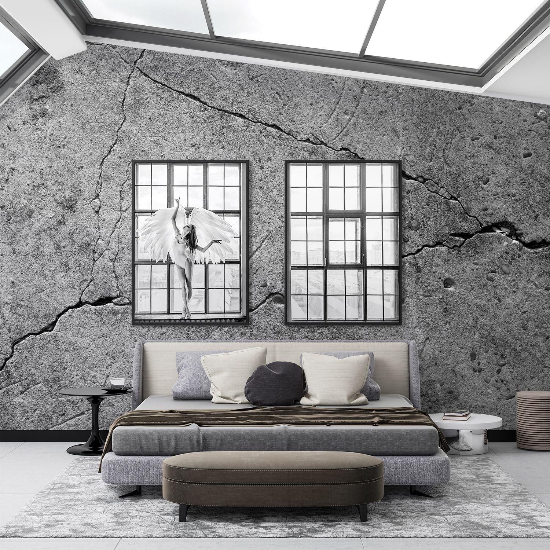 Fototapeta Pękająca betonowa ściana