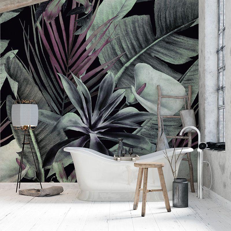Fototapeta Tropikalne Kwiaty i Liście