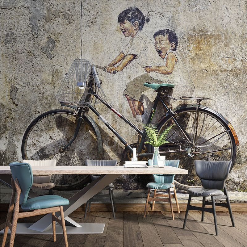 Fototapeta Mural Dzieci na Rowerze