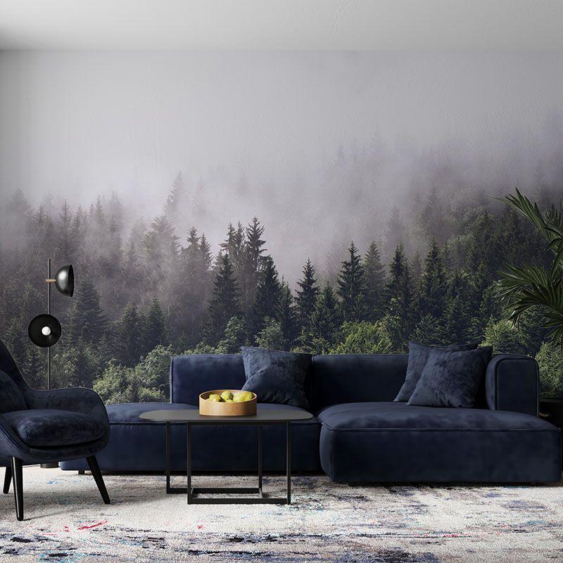 Fototapeta Las na Wzgórzu w Chmurze