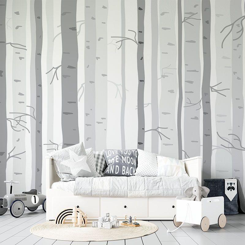 Fototapeta Pnie Drzew w odcieniach szarości