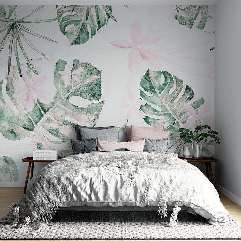 Fototapeta Storczyk i liście monstera wzór