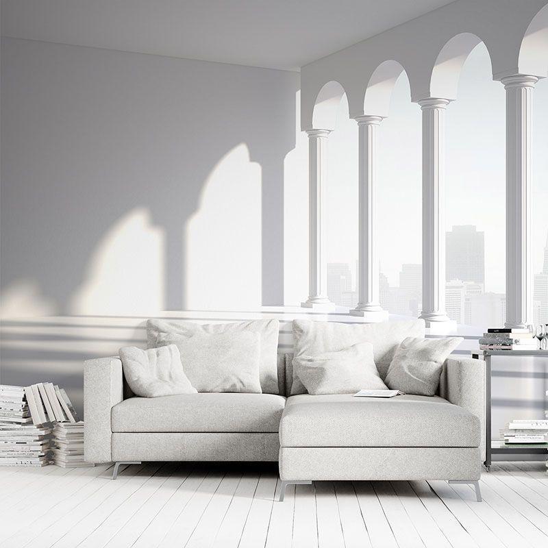 Fototapeta Białe Kolumny 3D