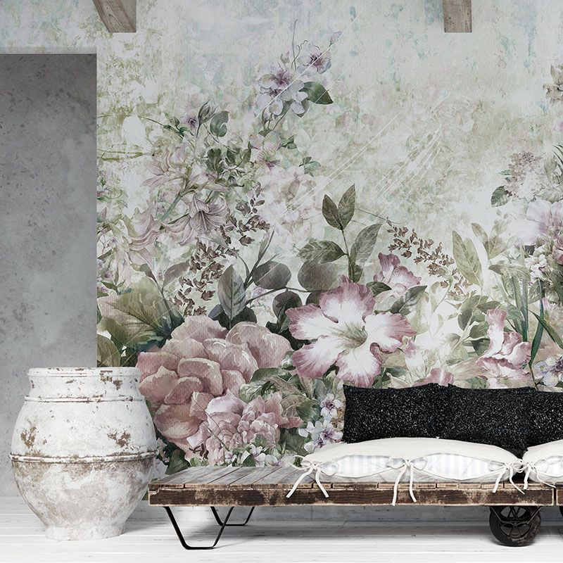 Fototapeta abstrakcyjne kwiaty malarstwo