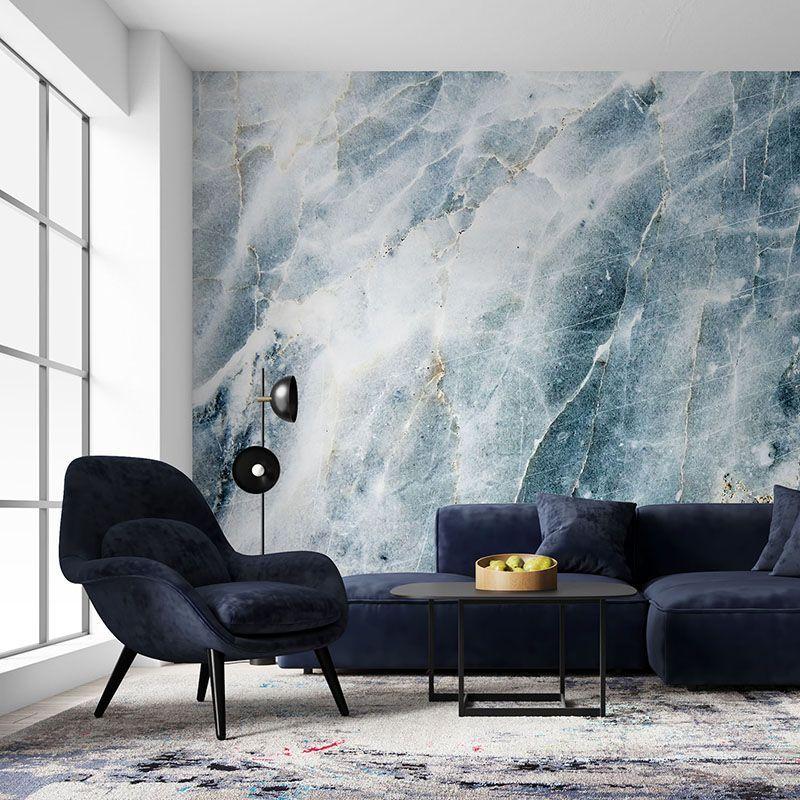 Fototapeta niebieski marmur tekstura kamienia