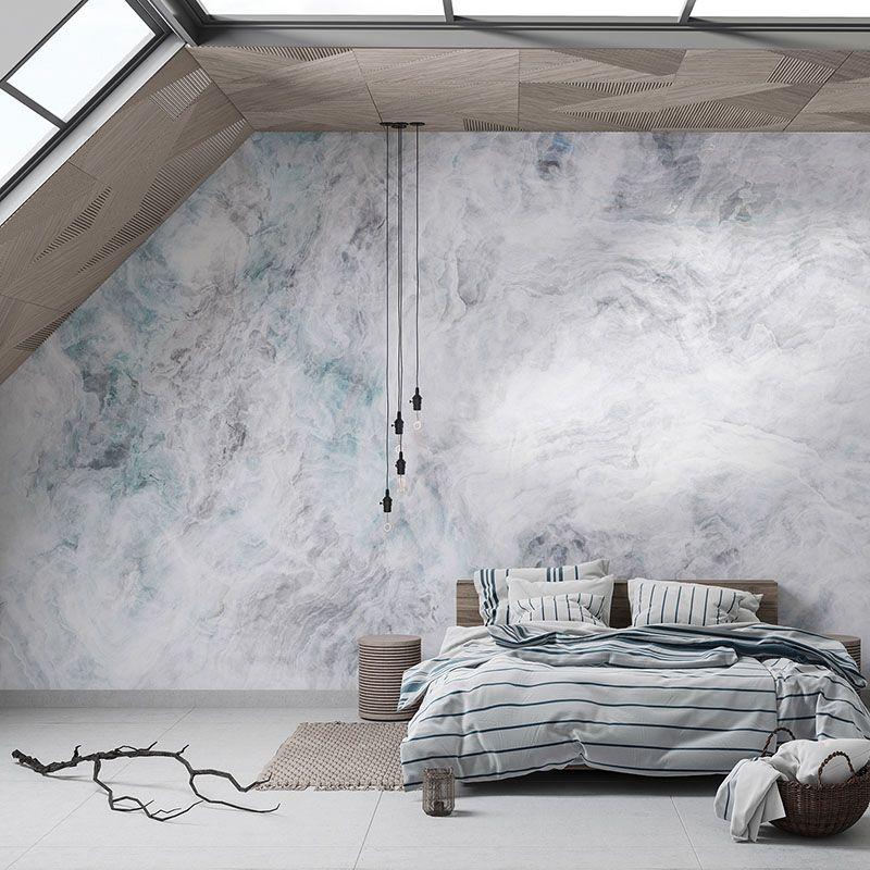 Fototapeta do sypialni, biała abstrakcja, onyx