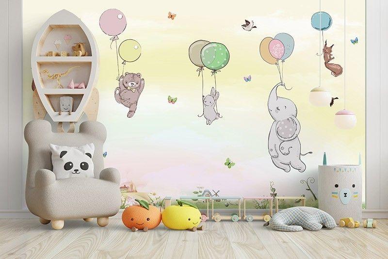 Fototapeta Kolorowe balony ze zwierzętami