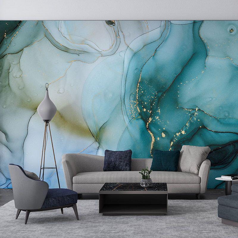 Fototapeta Turkusowa luksusowa abstrakcja