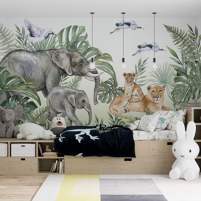 Fototapeta Zwierzęta w Dżungli, akwarela
