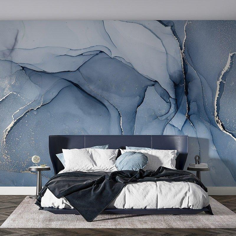 Fototapeta Abstrakcyjne niebieskie marmurowe tło