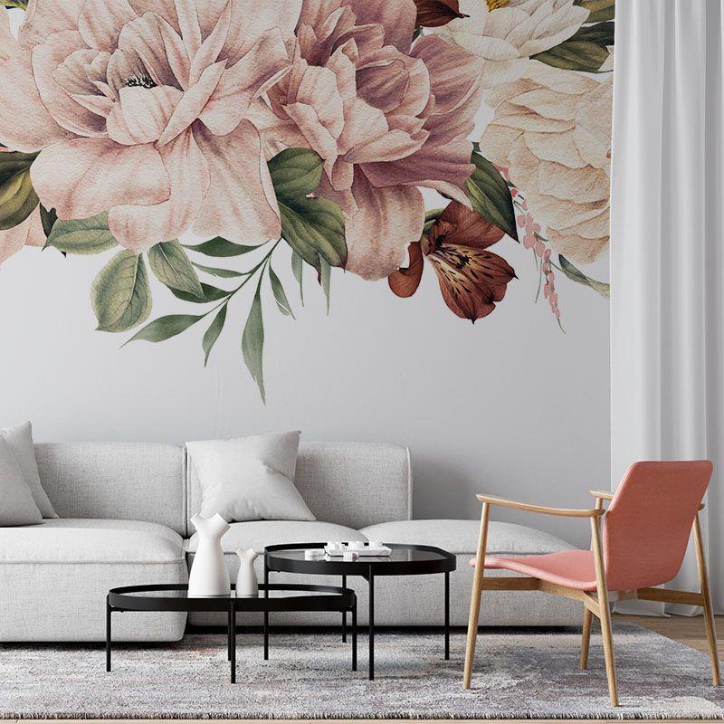 Fototapeta Kwiaty na białym tle - Akwarela