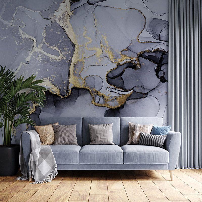 Fototapeta nowoczesna abstrakcyjna grafika w odcieniach szarości