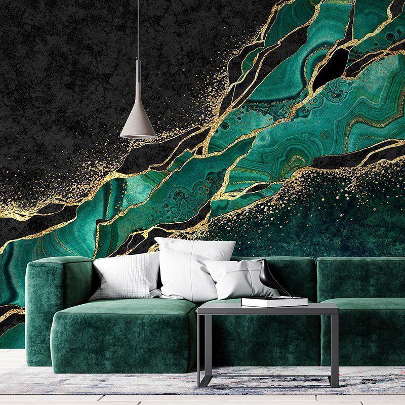 Fototapeta zielony malachit, japońska technika kintsugi