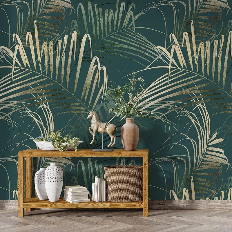 Fototapeta Kwiatowy wzór z tropikalnych liści