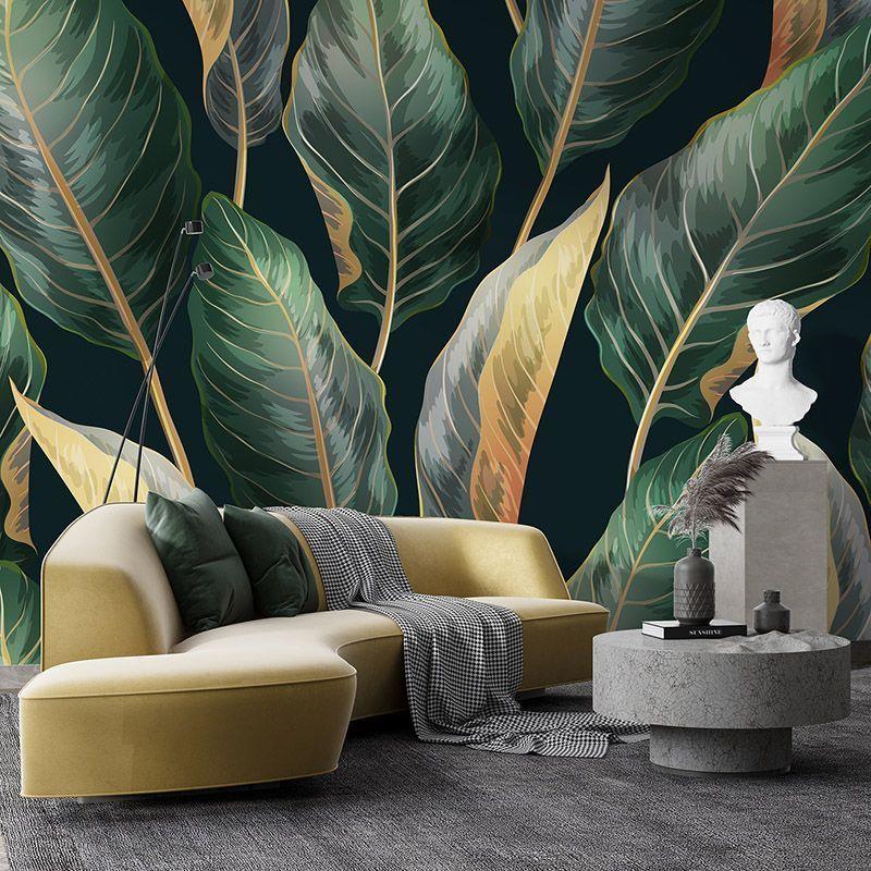 Fototapeta Liście palmowe - wzór botaniczny w stylu vintage