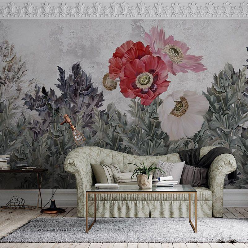 Fototapeta ilustracja kwiaty w salonie