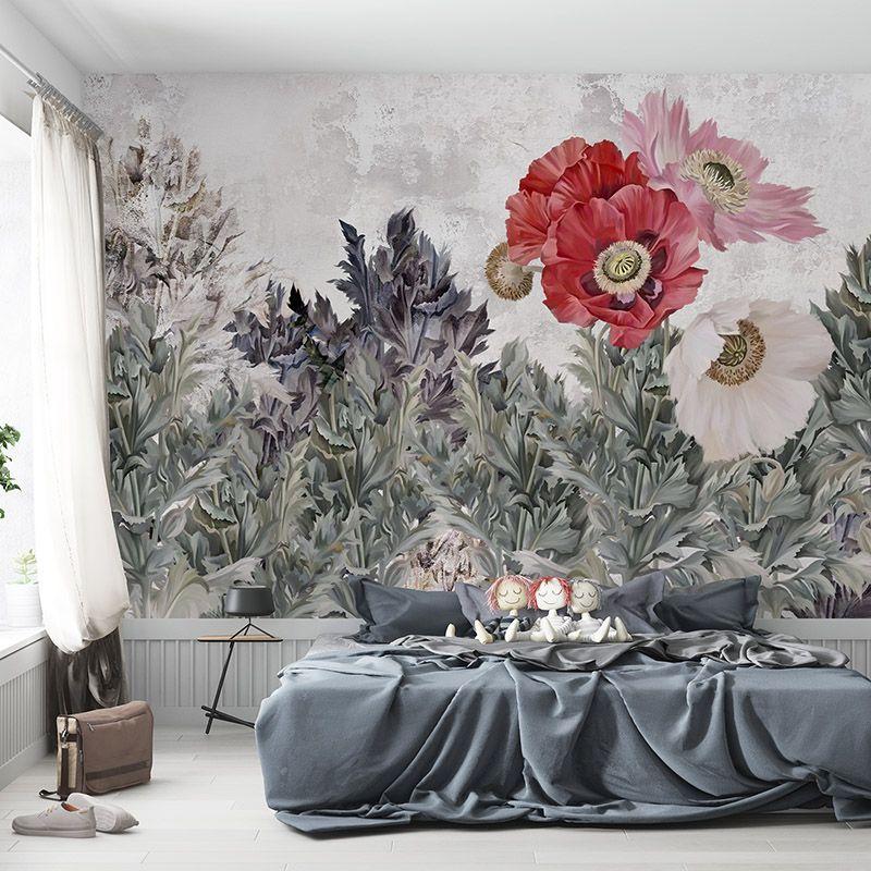 Fototapeta artystyczna ilustracja kwiaty