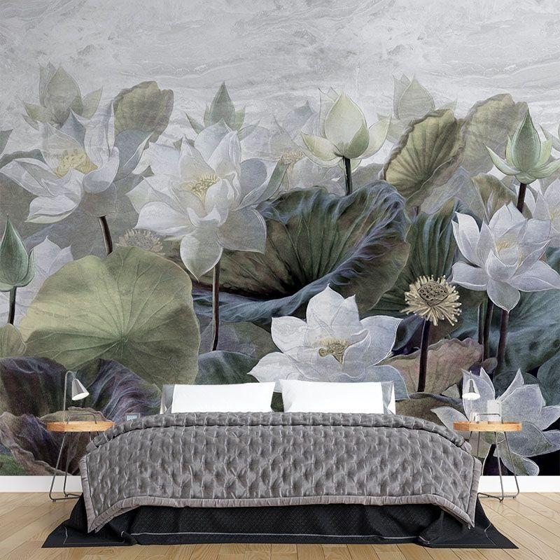 Fototapeta malowane kwiaty lotosu
