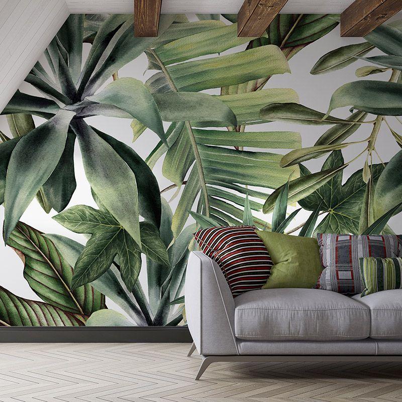 Fototapeta tropikalne liście białe tło