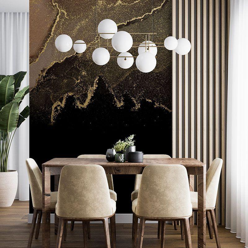 Fototapeta elegancka abstrakcja w kolorze czerni i złota