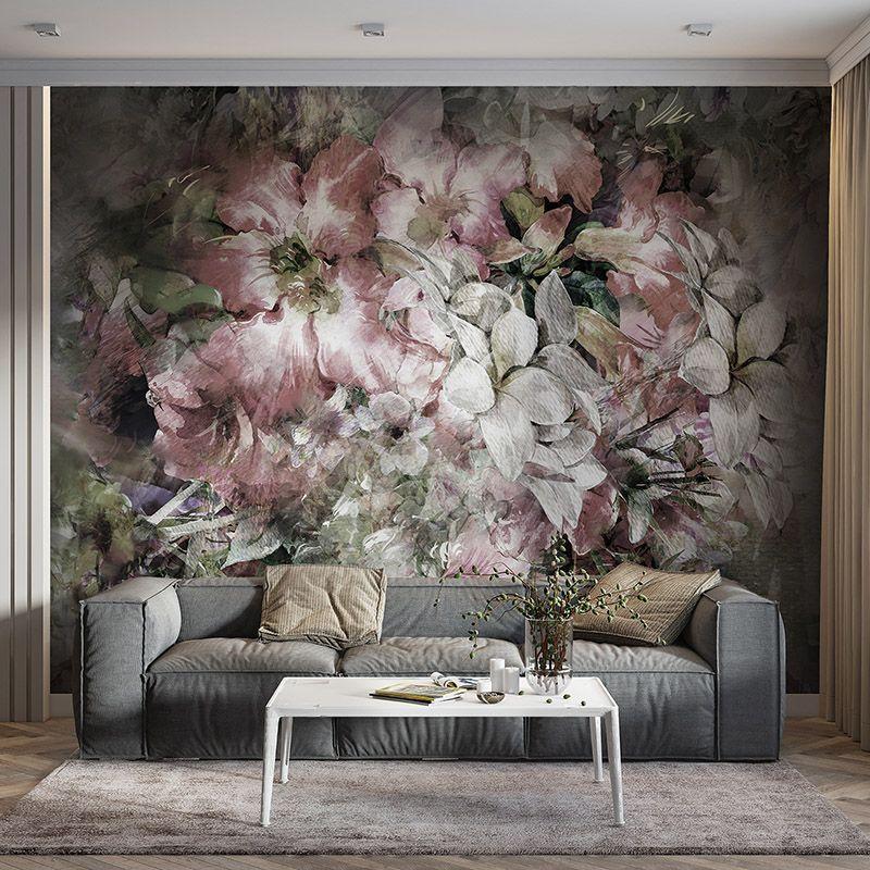 Fototapeta Bukiet kwiatów - malarstwo akwarelowe